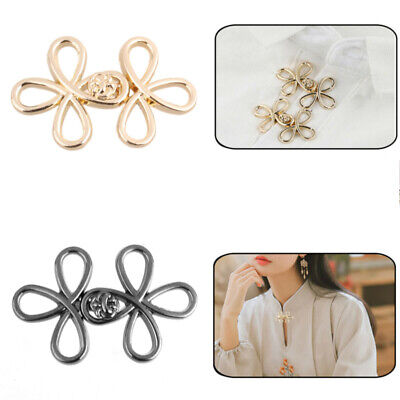 5 Pairs Chinese Knots Cape Cloak Clasp Fastener Shawl Cardigan Sew Clip Button