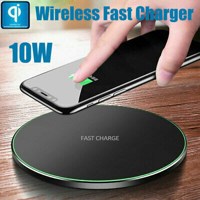 QI Fast Wireless Charger Charging Pad Mat Dock For Apple iPhone XR X 8 7 Plus UK