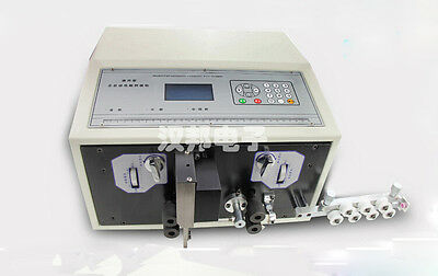 110V US 0.1-2.5mm2 Computer Automatic Wire Peeling Stripping Cutting Machine