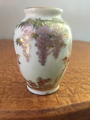 A Beautiful Little Japanese Satsuma Porcelain Vase w Mark