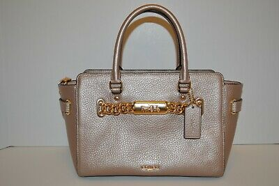 d472c304517 NWT COACH F39847 Blake Carryall 25 Pebbled Leather ROSE GOLD ...