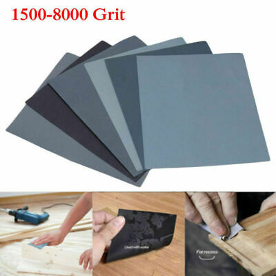 WET AND DRY SANDPAPER Assorted grit 1500 2000 2500 3000 5000 8000 - PACK of 12