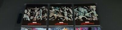 2007 Marvel Masterpieces Complete Art Alex Ross Splash Chase Card Set #1-3