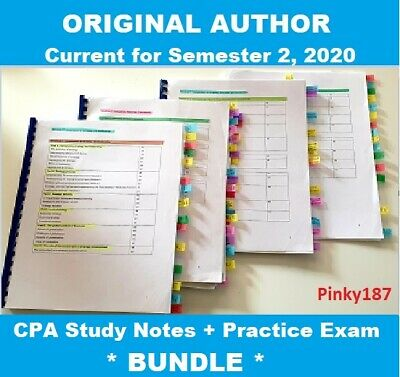 CPA Financial Reporting HD study notes 2020