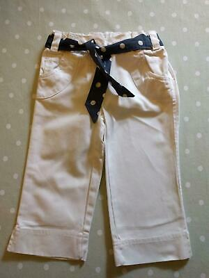 Next Girls White Cropped Jeans 3-4 Years  In Excellent Condition!!