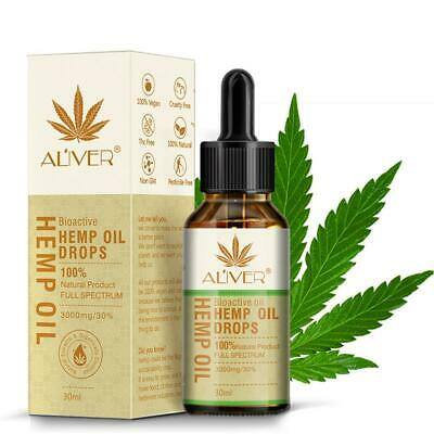 100% Pure Organic Hemp Seed Oil Essential Oil Reduce Stress Pain Relief Sle