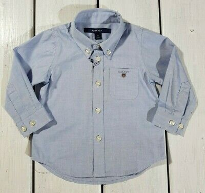 New Gant Toddler Shirts Size 74 cm / 9 months Light Blue Oxford Kids Boy's