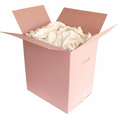 4 x 10kg boxes lint free white sheeting rags in dispenser box, includes VAT