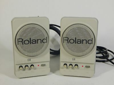 PAIR of Roland MA-12C Powered Micro Monitor Speakers