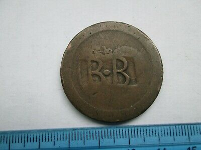 1797 penny countermarked BB token