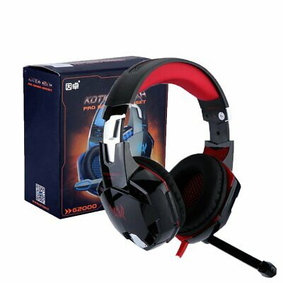 AU LED Gaming Headset Surround MIC Headphones for PC Laptop PS4 Xbox One