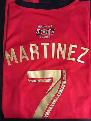 newest f154c 0939c ATLANTA UNITED FC Josef Martinez 7 Red 2019 Star and Stripes ...