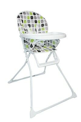Portable Green Foldable Highchair Baby High Chair With Feeding Tray Padded Seat