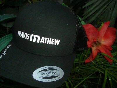 new products b5c09 a1520 Travis Mathew Snap-Back Golf Hat Black-Mesh Flex Fit Awesome-Tour One