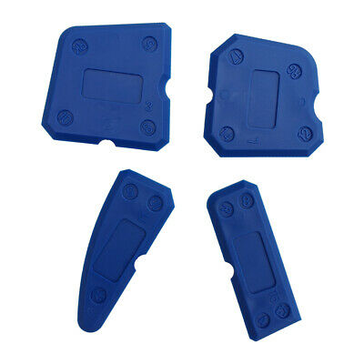 4Pcs Caulking Tool Kit Blue Joint Silicone Sealant Grout Finishing Remover