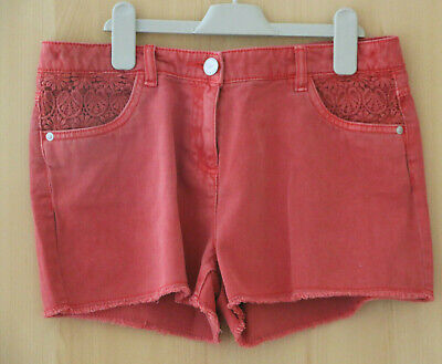 Next Girl's Pink Denim Shorts Age 16 Years BNWT Tag £19