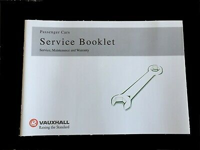 Genuine-Vauxhall-Service-History-Book-For-Petrol-And-Diesel Not Duplicate Oem