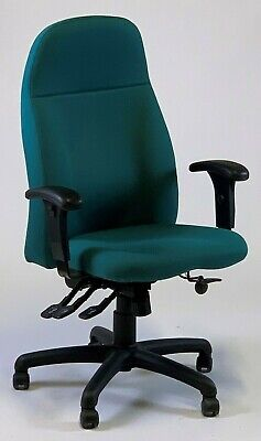 Albion Chairs Uni125A fully adjustable Mesh back chairs in blue//black Brand New