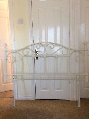 Cream Metal Double Vintage Style Shabby Chic Headboard Bedroom Perfect