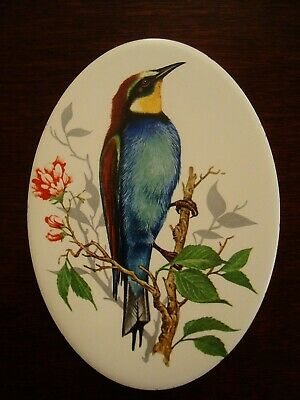 Vintage Bird and Foliage Oval shaped tile  20/99