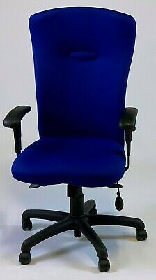 Albion Chairs Uni8A fully adjustable task/operator chair in blue: ex-showroom