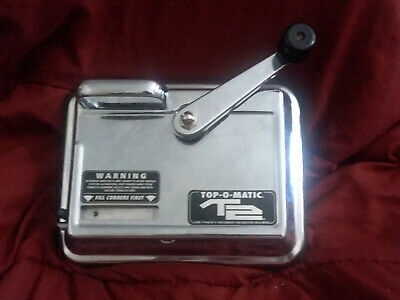T2 Top-O-Matic Cigarette Rolling Machine Hand Crank Powered Injector
