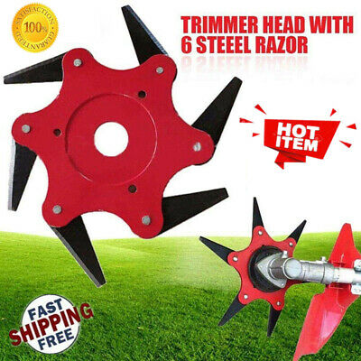 65Mn Outdoor Trimmer Head 6 Steel Blades Razors Lawn Mower Grass Weed Cutter Hot
