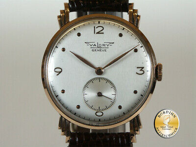 Wrist Watch; Valory Geneva, 14K Gold, Second, Hand Wound