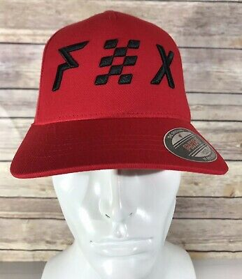 the latest f0827 d2d47 Fox Racing Youth AVOWED FLEXFIT Cap Hat Baseball Red Motocross