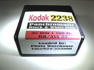 Kodak Panchromatic B&W film 2238 35 mm x 100 Ft. Roll Poor Man's Tech Pan