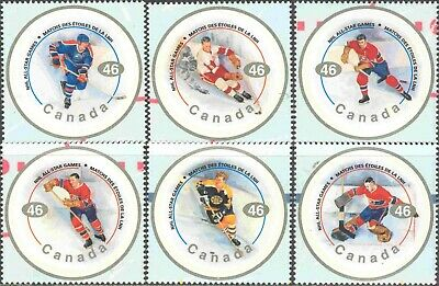 2000 Canada #1838a-f Mint Never Hinged Set of 6 NHL All Star Hockey Players