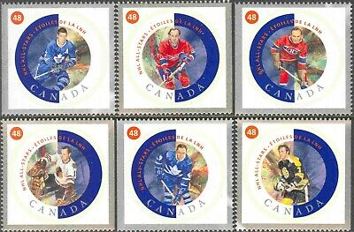 2002 Canada #1935a-f Mint Never Hinged Set of 6 NHL All Star Hockey Players