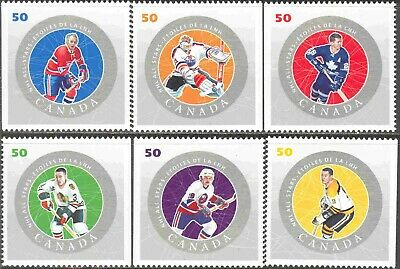 2005 Canada #2086a-f Mint Never Hinged Set of 6 NHL All Star Hockey Players