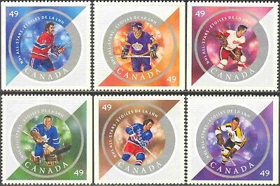 2004 Canada #2017a-f Mint Never Hinged Set of 6 NHL All Star Hockey Players