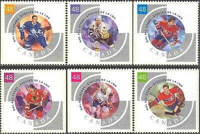 2003 Canada #1971a-f Mint Never Hinged Set of 6 NHL All Star Hockey Players
