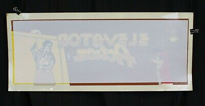 Vtg Elevator Action Taito Arcade Video Game Decal Sticker Top Marquee Storestock