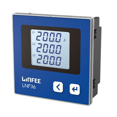 Baoblaze LCD 3-phase AC Electric Current Meter Rated Voltage - AC100V/380V