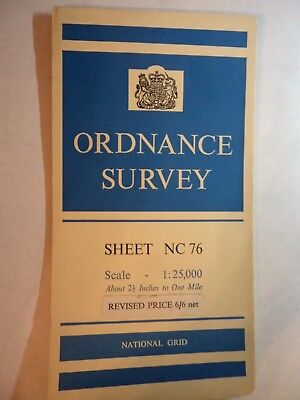 "Ordnance Survey 2.5"" Map NC76 Bettyhill 1963 Card cover. Ist in book. Pristine"