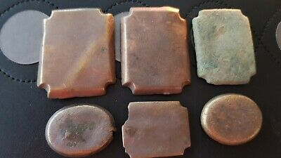 Fantastic lot of Post Medieval bronze name mounts Please read description. L136v