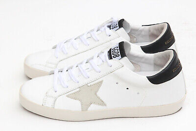 cc0149f7d Golden Goose Superstar White Grey Star Leather Sneakers Women's Sz 38 M