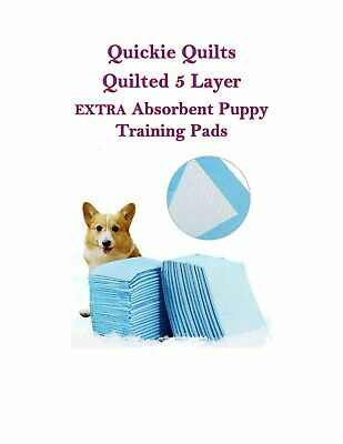 Quickie Quilts Puppy Training Piddle Pads Rapid SUPER Absorption with Attractant