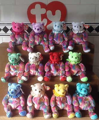 Vintage Complete Ty Beanie Babies Birthstone Collection 2001