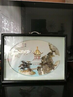Chinese Mother of Pearl and Shell 3D picture.