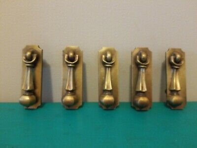 5 Vintage Brass Drawer Pull Knob Door Knocker Style