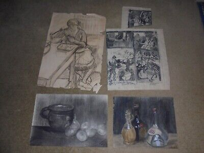 Early 20th Century European Drawing's Lot For Sale