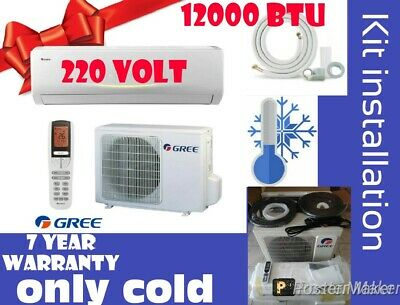 MINI SPLIT AIR CONDITIONERS,12000 BTU,220 volt, 7 YERS WARRANTY,ONLY COLD,KIT IN