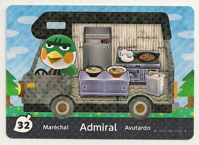 Animal Crossing amiibo Card: Admiral 32 (Welcome Series 5) Kitchen RV New Leaf