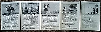 Bell System       American Telephone & Telegraph Co.      Qty 5     1920's Ads