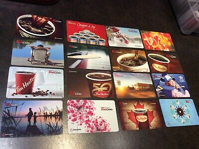 Lot of 16 Older Tim Hortons Collectable Gift Cards