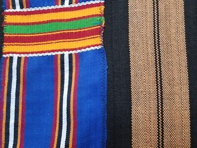 "RARE Original Kente Handwoven Cloth 83""x 60"" from Ghana Africa"